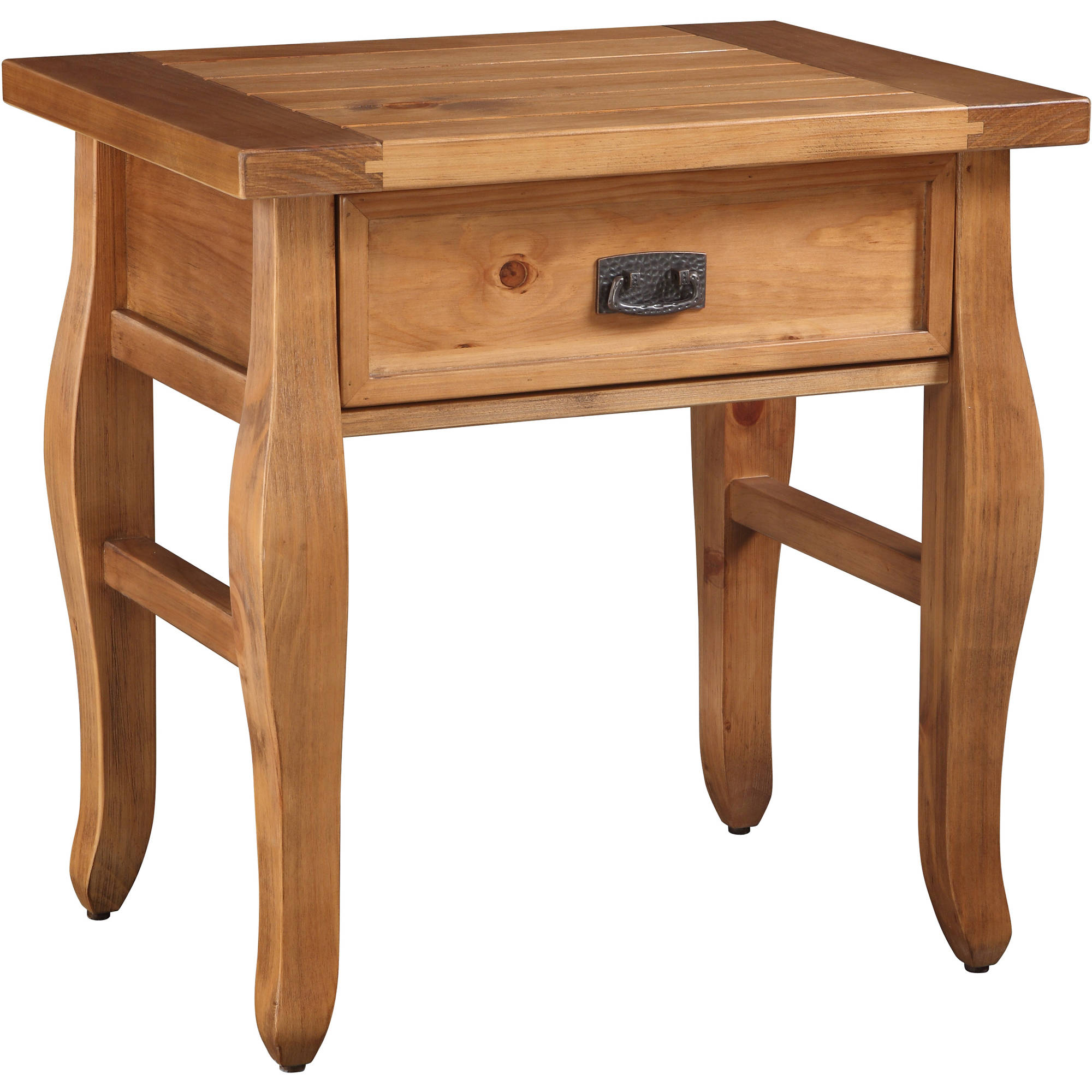 Linon Santa Fe End Table, Antique Finish, 24 inches Tall