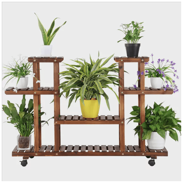 4 Layer Wooden Flower Plant Stand