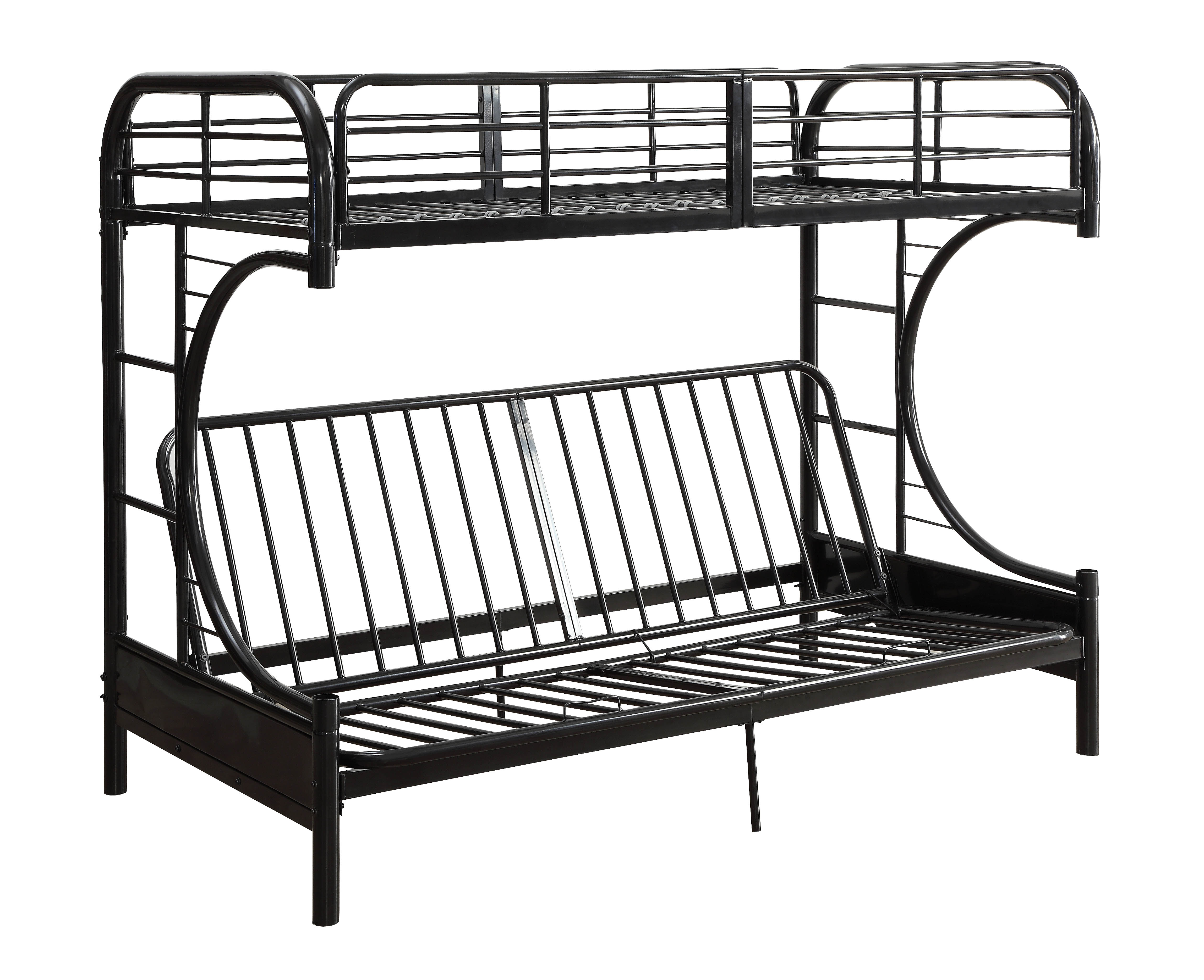 ACME Eclipse Twin Full Futon Bunk Bed, Black by Overstock