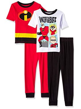 77e13d8650ae1 Product Image Boys' Incredibles 4 Piece Pajama Sleep Set (Little Boy ...