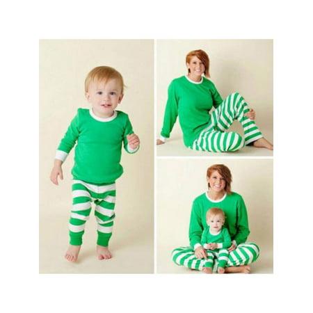 43e2765407 Sweetsmile - Sweetsmile Lovely Christmas Family Matching Pajamas Set Adult  Men Women Kids Striped Pant Sleepwear Nightwear - Walmart.com