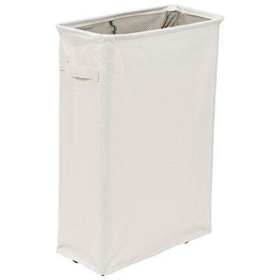 homiak slim laundry hamper with wheels for clothes storage. Black Bedroom Furniture Sets. Home Design Ideas