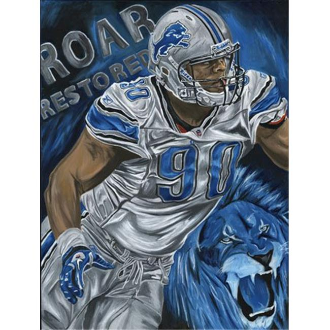 Deacon Jones Foundation DC-05R Roar Restored Art Print, by Dave Courson - Rolled