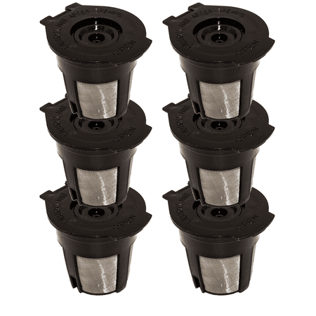 Blendin 6 x Single Coffee Pod Filters Compatible Keurig K Cup Coffee Maker System,