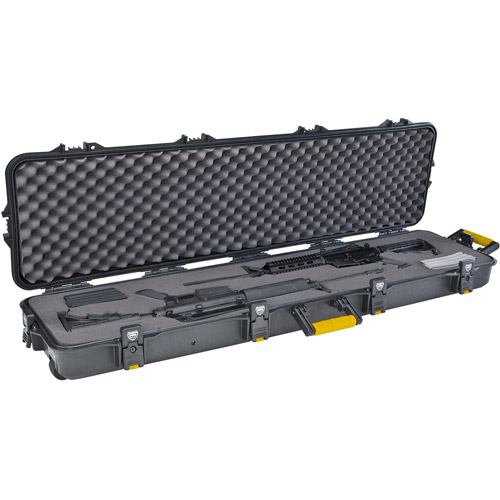 Plano Gun Guard All Weather Double Scoped Rifle Case with Wheels, Black