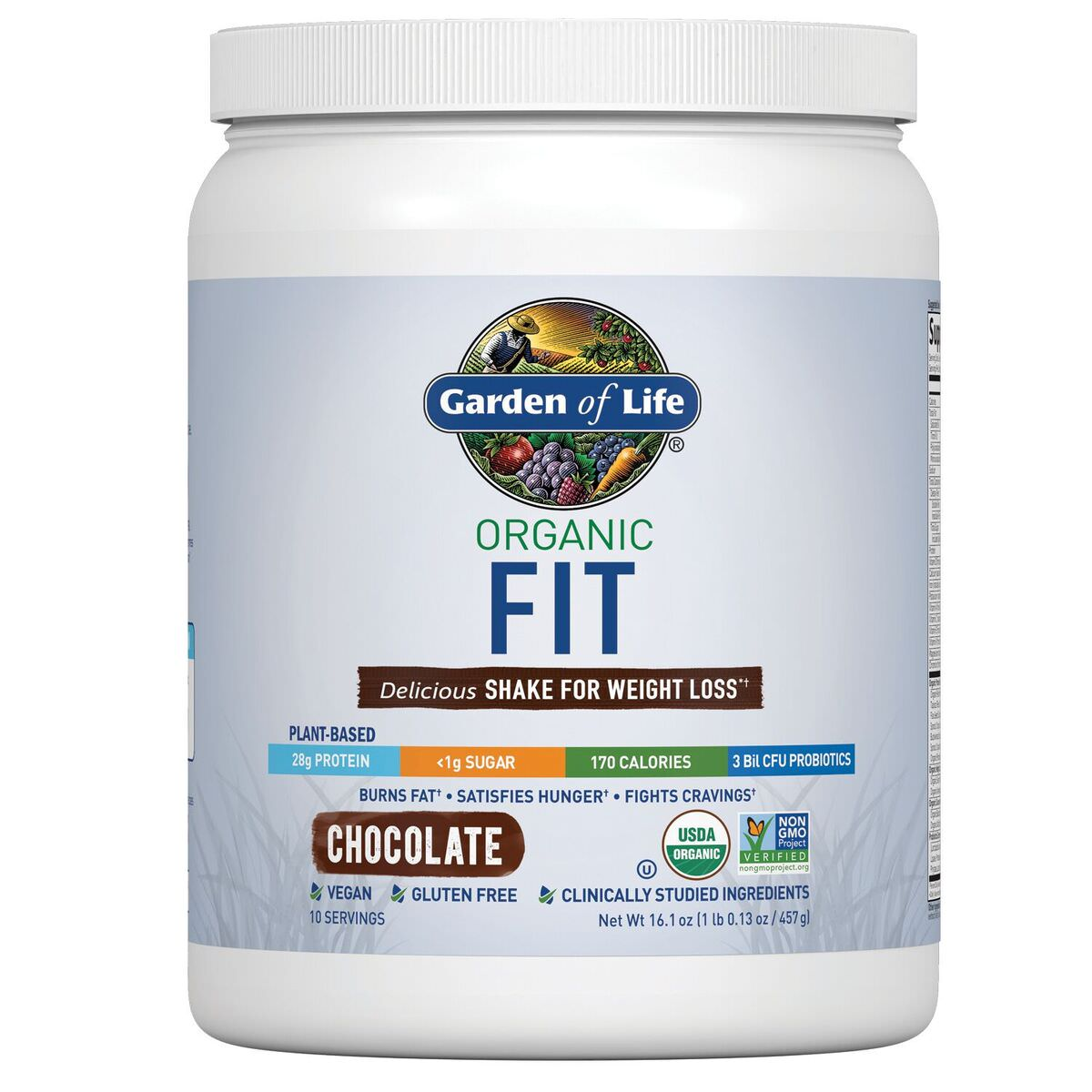 Garden of Life Organic Fit Protein Powder, Chocolate, 1.0 Lb