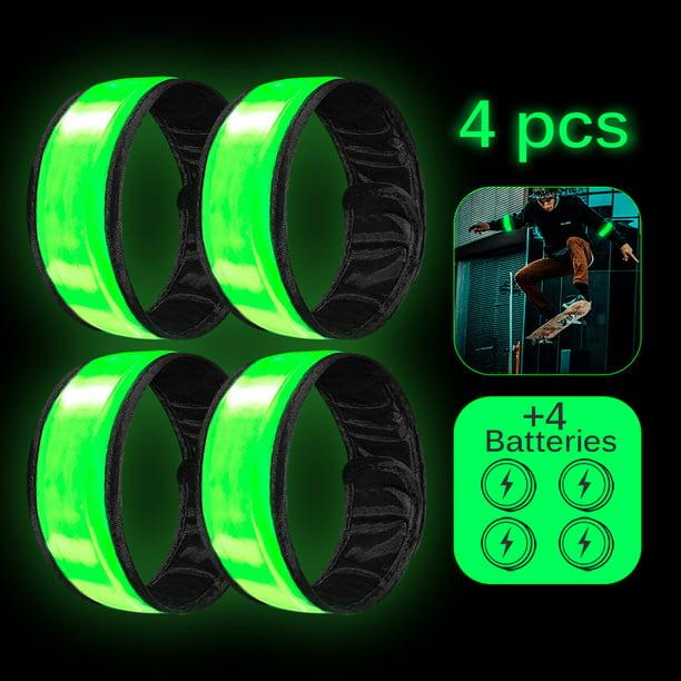 Safety Flashing LED Light up Reflective Arm Band Hiking Running Bike Cycling UK
