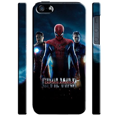 Ganma Captain America: Civil War Characters Case For Iphone 5 5s SE Hard Case (Top 5 Causes Of The Civil War)