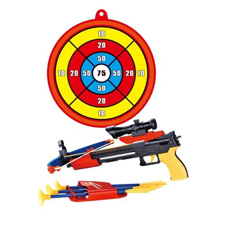 Hunger Games Bow And Arrow (AZ Import PS0968 Archery Crossbow Bow & Arrow Toy Set with Target, Toy Crossbow for Indoor & Outdoor Garden Fun)