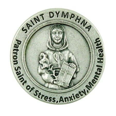 Patron Saint of Mental Illness St Dymphna Pocket Token with Prayer