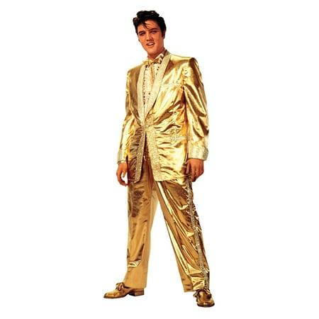 Gold Lame Elvis (Elvis Presley - Gold Lame` Suit Cardboard Stand-Up,)
