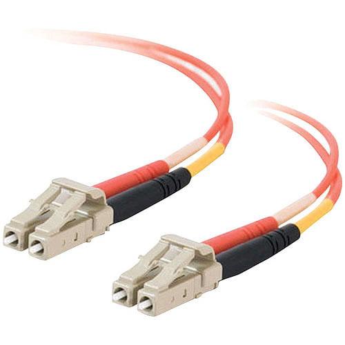 C2G LC/LC Duplex 50/125 Multimode Fiber Patch Cable, Orange, 3m