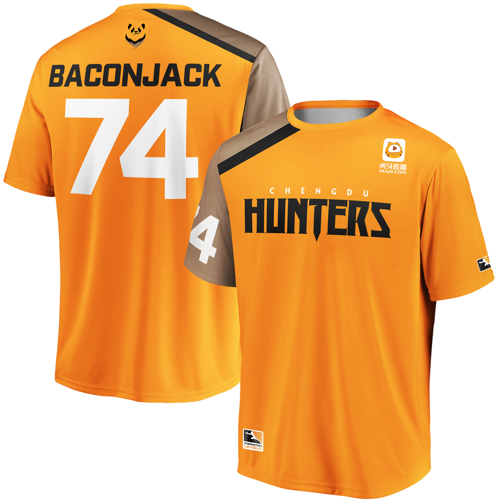 Baconjack Chengdu Hunters Overwatch League Replica Home Jersey - Orange