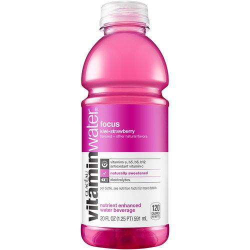 Glaceau Vitaminwater Focus Kiwi-Strawberry Vitaminwater, 20 oz