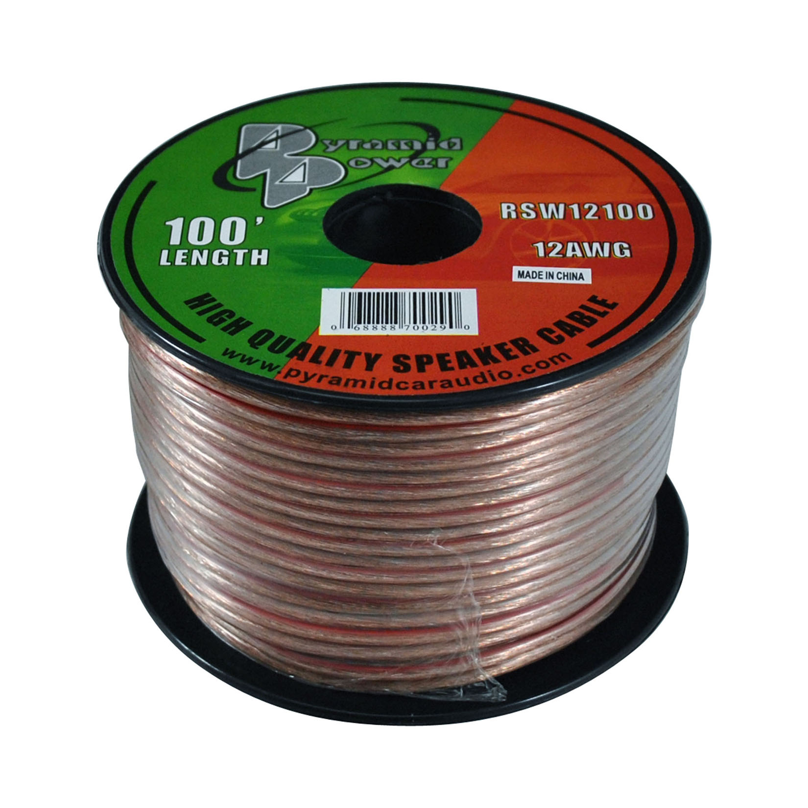 Pyramid 12 Gauge 100 ft. Spool of High Quality Speaker Zip Wire (RSW12100)