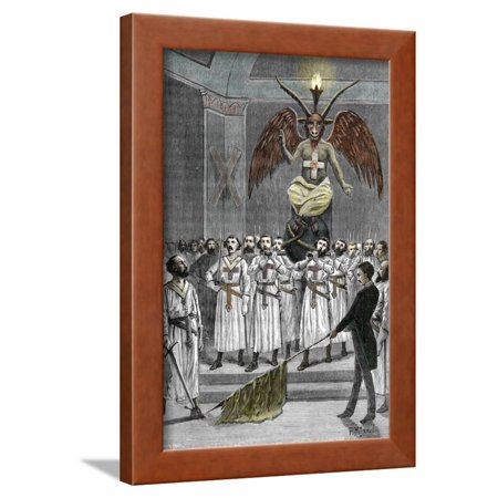 Pagan Idol Baphomet Worshiped by Masons Dressed as Templar Knights ...