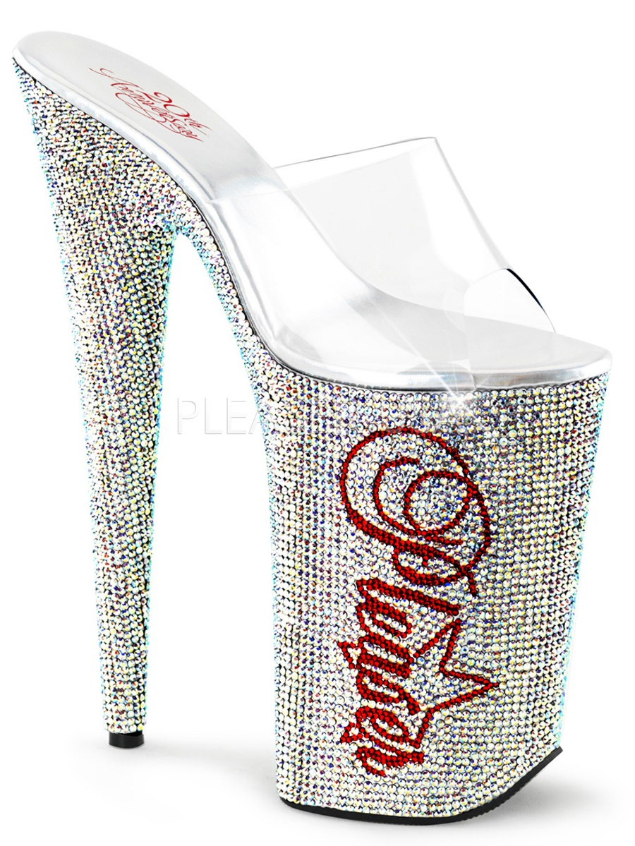 CELEBRATE20TH, 20th Anniversary Rhinestone Shoe-Size 1-Clear And Silver Multi Rhinestone