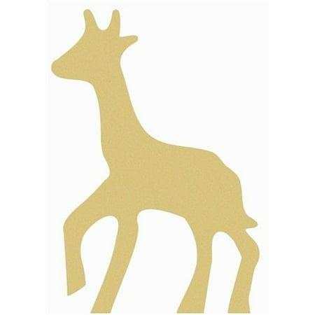 Wooden Giraffe Shape, Unfinished Wood Craft, DIY 6'' Lot of 10 - Diy Wood