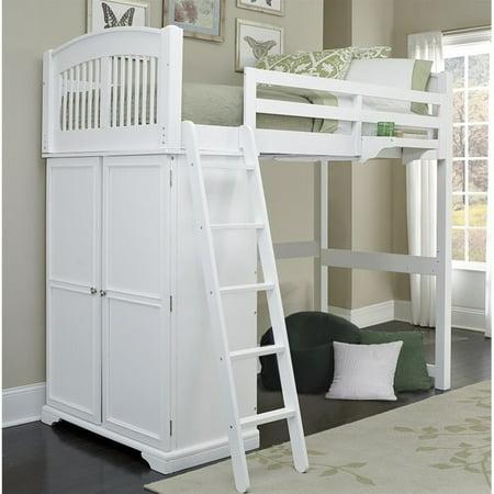 Ne Kids Walnut Street Locker Loft Bed In White Walmart Com