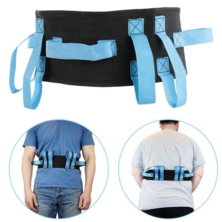 Buckle Grips - WALFRONT Gait Belt Transfer & Walking Moving Tool with Hand Grips Quick-Release Buckle Patient Safety, Patient Belt, Hand Grip Strap