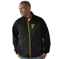 Pittsburgh Pirates G-III Sports by Carl Banks Full Count Track Jacket - Black