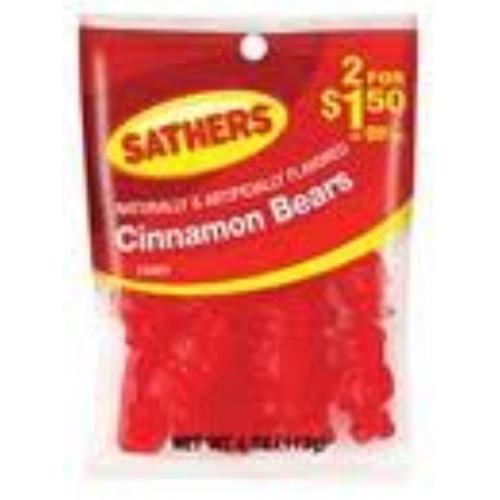 Sathers Cinnamon Bears 12 pack (4oz per pack) (Pack of 2)