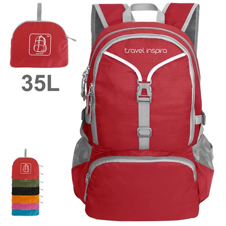 Travel Inspira 35L Lightweight Foldable Backpack Water Resistant Packable Sports Casual For Outdoor Camping Hiking Cycling 35 Liters…