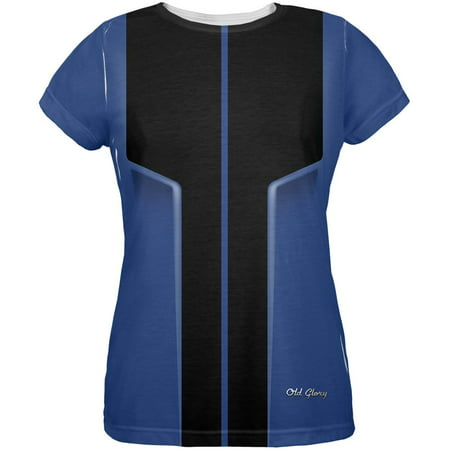 Fake Muscle Shirt Halloween (Halloween Classic Muscle Car Blue Costume All Over Womens T)