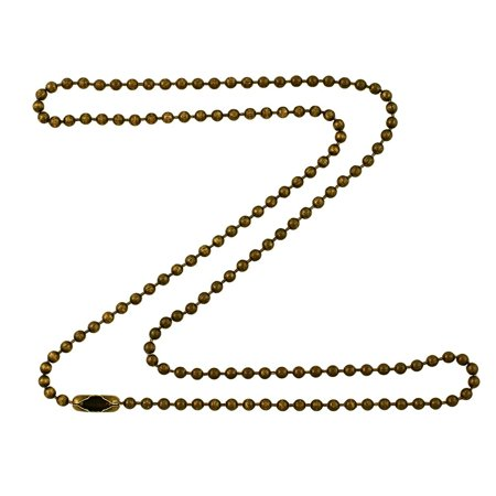 2 4mm Antique Brass Ball Chain Necklace with Extra Durable Color Prote