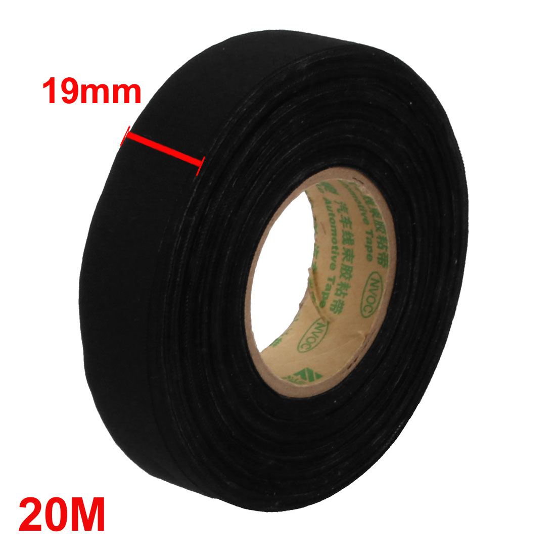 Unique Bargains Black 20m Long 19mm Width Insulation Adhesive Cloth Tape  Car Wire Harness Tape