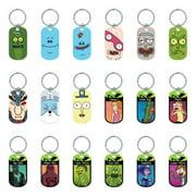 Rick and Morty Metal Dog Tags Key Rings (2 Dozen)