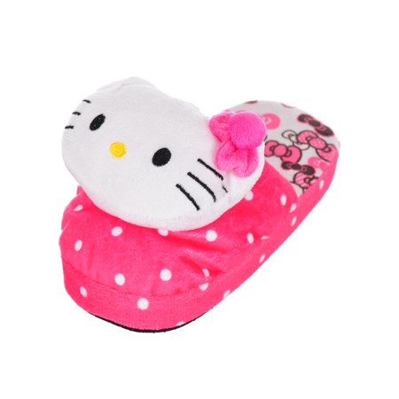 Hello Kitty Girls' Slippers (Sizes 5 - 10) (Hello Kitty Toms Shoes)