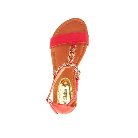 Victoria K Women's T-chain Link Sandals