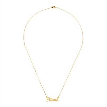 Delicate Gold Chain - Riah Fashion Dainty Charm Necklace - Gift for Women Valentines Day Mother's Day Lettering Word Pendant Delicate Chain Jewelry - HDND4N20