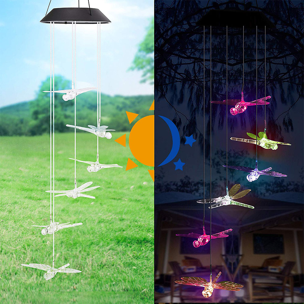 Solar Dragonfly Wind Chimes Color Changing Wind Chimes Outdoor For Patio Yard Garden Home Unique Gifts For Mom Birthday Gifts For Kids Walmart Canada