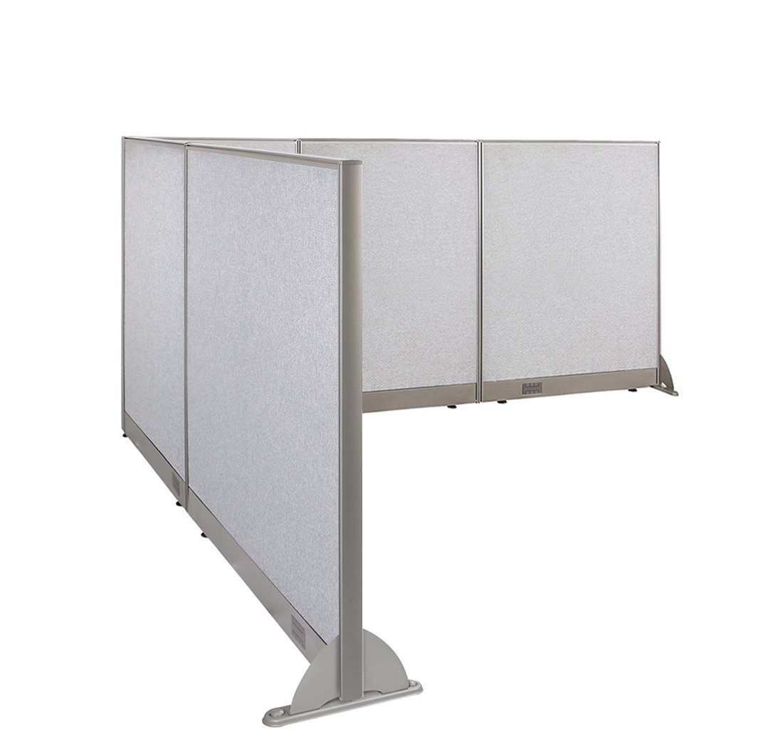 office room dividers. Perfect Dividers GOF LShaped Freestanding Office Panel Cubicle Wall Divider Partition 96D X  102W 48H Inside Room Dividers