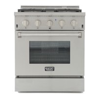 KUCHT Professional 30 in. 4.2 cu. ft. Dual Fuel Range for Natural Gas with Sealed Burners and Convection Oven in Stainless Steel with Royal Blue Knobs