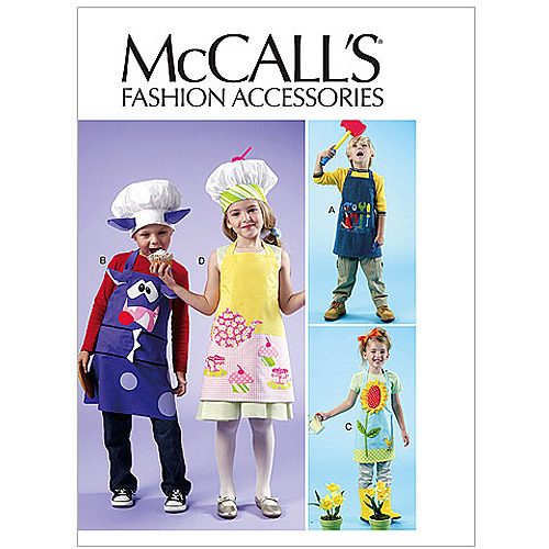 McCall's Kids' Aprons and Hats, All Sizes in 1 Envelope