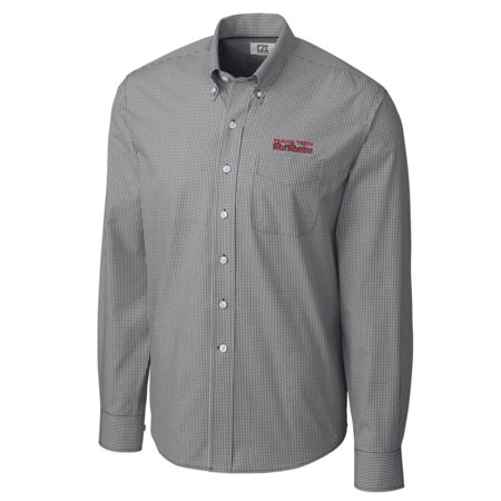 Texas Tech Red Raiders Cutter & Buck Big & Tall College Vault Epic Gingham Long Sleeve Button-Down Shirt - Charcoal