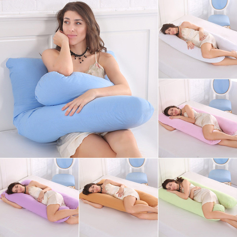 Pregnancy Pillow Full Body Maternity Pillow with Contoured U-Shape Back Support Side Sleeping Cushion Body Pillow for Pregnant Women