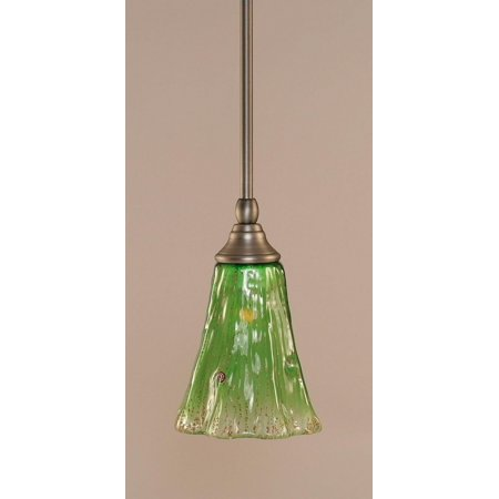 - Toltec Lighting-23-BN-723-One Light Stem Mini-Pendant  Brushed Nickel