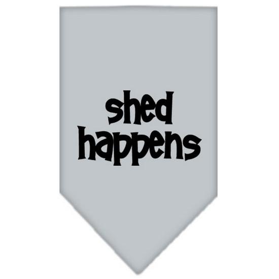Shed Happens  Screen Print Bandana Grey Small