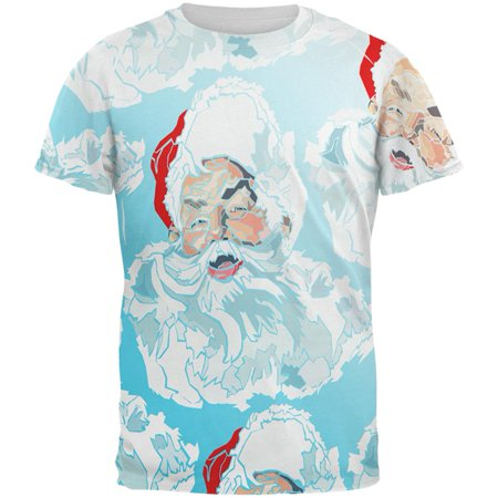 Christmas Classic Jolly Saint Nick Santa Claus All Over Mens T Shirt - Halloween's Over Christmas Meme