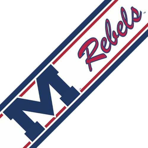 Trademarx Wall Decor 12441757 Ncaa Mississippi Rebels Accent Self-stick Wall Border