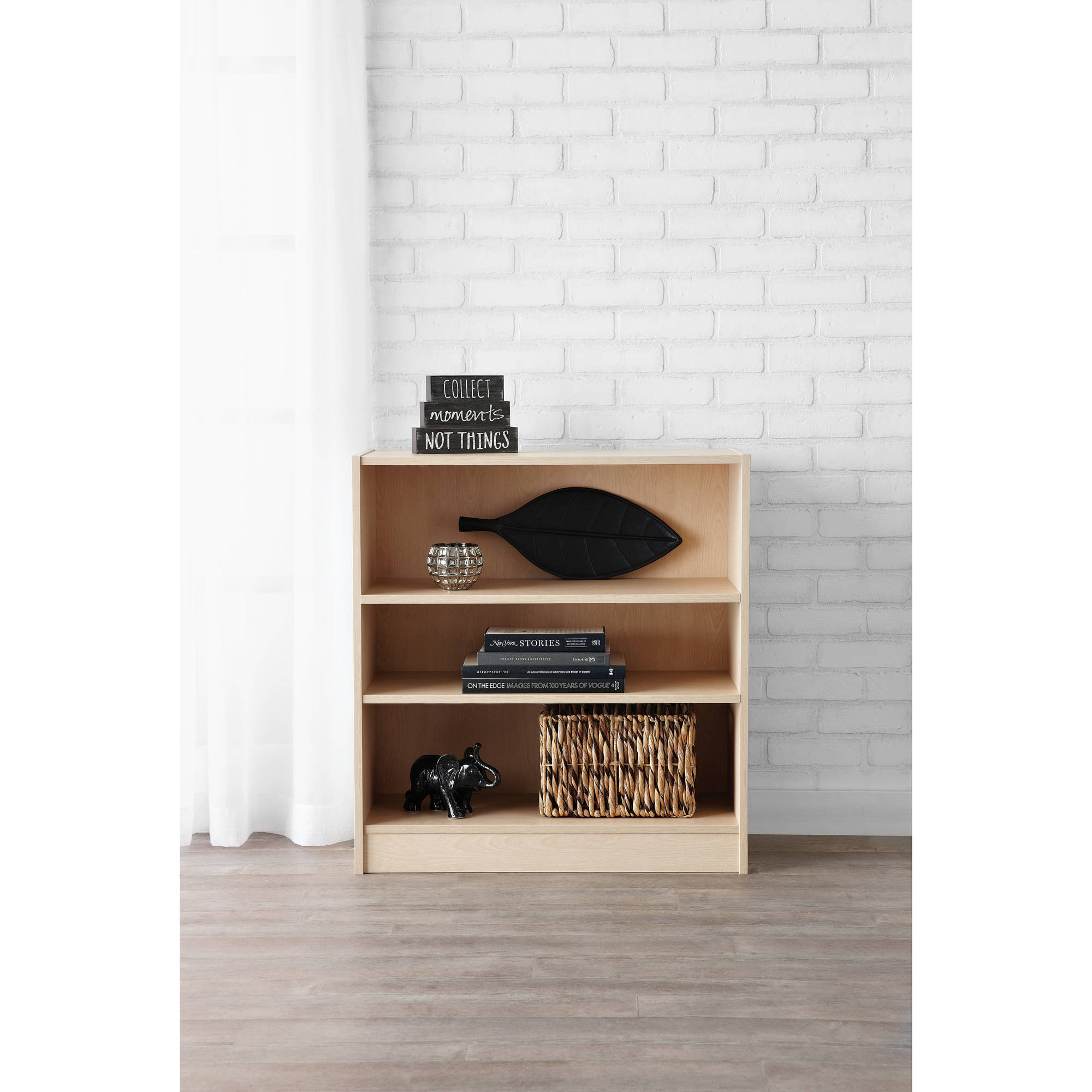 Mainstays 3-Shelf Bookcase, Natural by MYLEX LIMITED