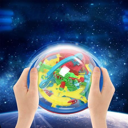 3D Magic Maze Ball 100 Levels Intellect Rolling Ball Puzzle Game Brain Teaser Bay Kids Preschool Toys - image 6 de 6