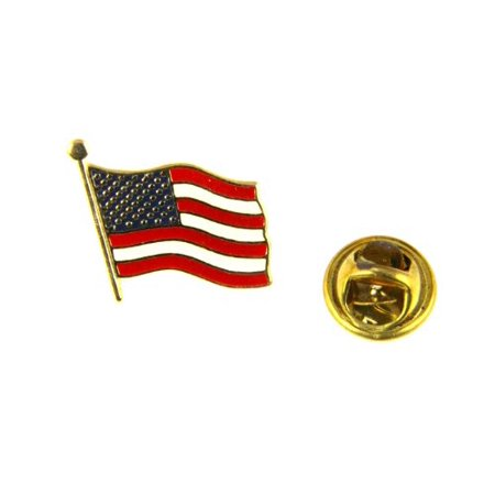 United States American Flag Lapel Pin US Made in USA Red White and Blue