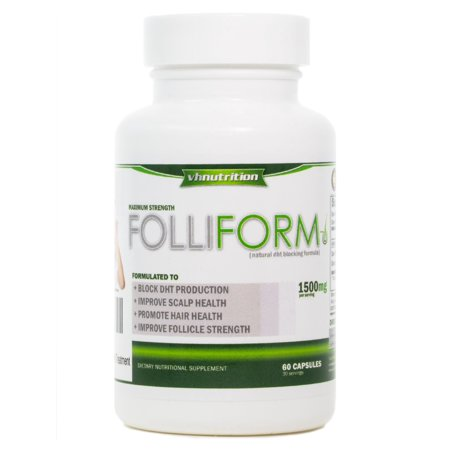 Folliform | DHT Blocker for Men and Women | 1500mg Natural Hair Loss Supplement | Saw Palmetto Pygeum Nettle Root (Best Non Root Ad Blocker For Android)