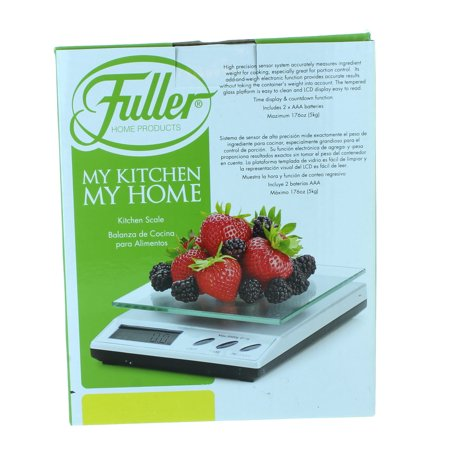 digital kitchen scale brushed tempered glass diet food