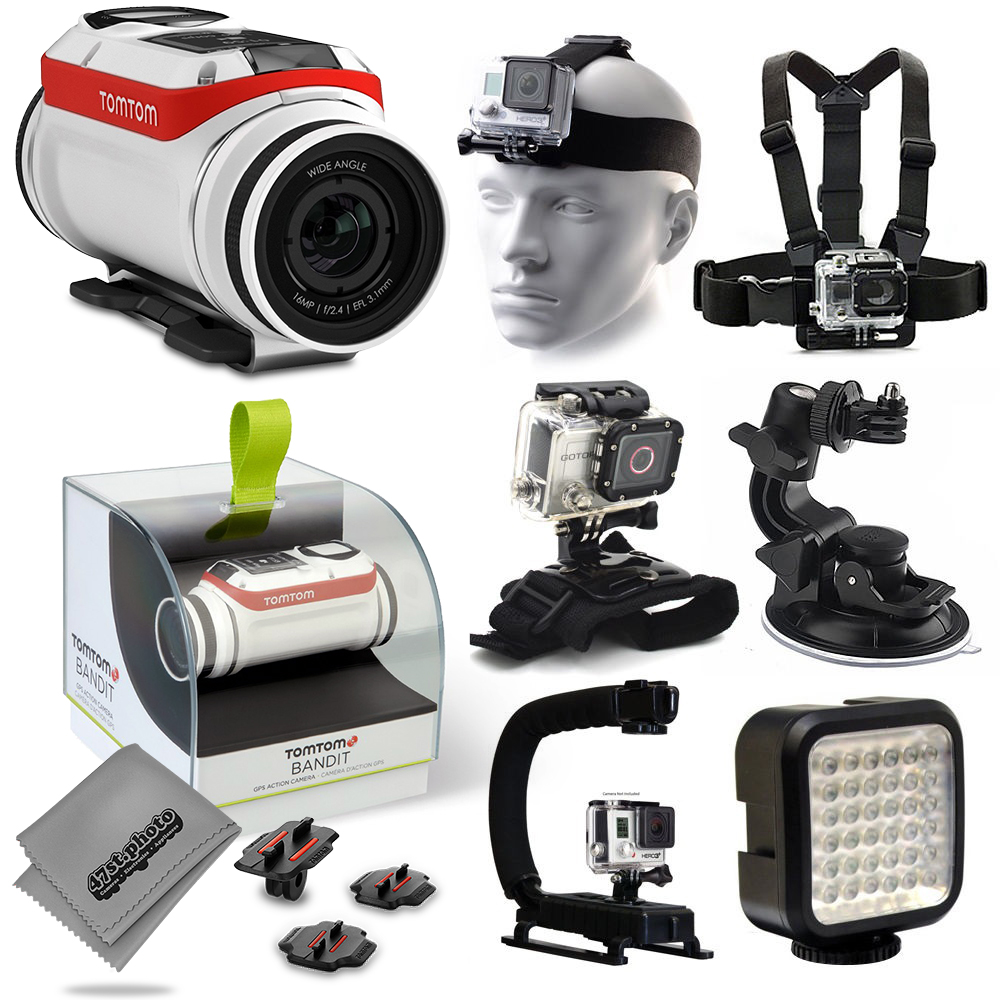 TomTom Bandit 4K Action Camera with Headstrap + Chest Har...